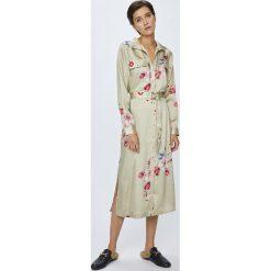 Pepe Jeans - Sukienka Auro. Szare sukienki damskie Pepe Jeans, w paski, z jeansu, casualowe, z długim rękawem. Za 439.90 zł.