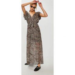 Answear - Sukienka Animal me. Szare sukienki damskie ANSWEAR, z poliesteru, casualowe. W wyprzedaży za 129.90 zł.