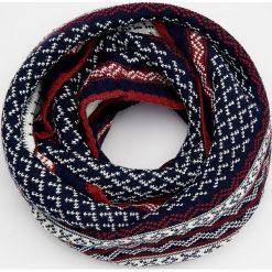 Komin - Czerwony. Szare szaliki męskie marki Giacomo Conti, na zimę, z tkaniny. W wyprzedaży za 49.99 zł.