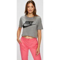 Nike Sportswear - Top. Różowe topy damskie Nike Sportswear, z nadrukiem, z dzianiny, z okrągłym kołnierzem, z krótkim rękawem. Za 129.90 zł.