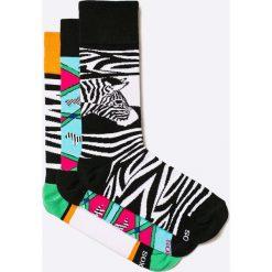 Soxy - Skarpety Zebras (3-pack). Szare skarpety męskie Soxy, z bawełny. W wyprzedaży za 59.90 zł.