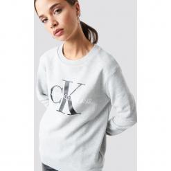 Calvin Klein Bluza Core Monogram Logo - Grey. Szare bluzy damskie Calvin Klein. Za 404.95 zł.
