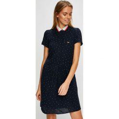 U.S. Polo - Sukienka. Czarne sukienki damskie U.S. Polo, z materiału, casualowe, polo, z krótkim rękawem. W wyprzedaży za 449.90 zł.