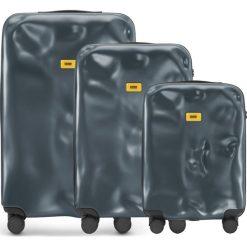 Walizki Icon w zestawie 3 el. matowy szary. Walizki męskie Crash Baggage, z materiału. Za 2,628.00 zł.