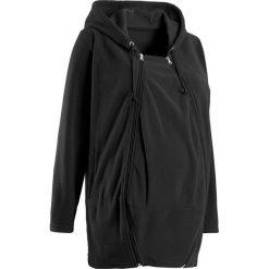 Bluza z polaru ciążowa, z wstawką niemowlęcą bonprix czarny. Bluzy dla dziewczynek marki Pulp. Za 129.99 zł.