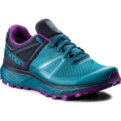 Buty SALOMON - Trailster Gtx W GORE-TEX 404885 26 W0 Deep Lagoon/Navy Blazer/Purple Magic. Niebieskie obuwie sportowe damskie Salomon, z gore-texu. W wyprzedaży za 409.00 zł.