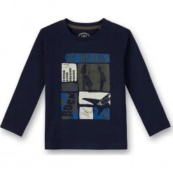 Koszulka w kolorze granatowym. Niebieskie t-shirty dla chłopców marki Eat ants, z nadrukiem, z bawełny, z długim rękawem. W wyprzedaży za 37.95 zł.