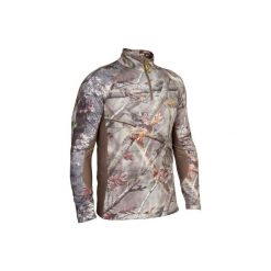 Koszulka ACTIKAM 500 WARM. Brązowe bluzki z długim rękawem męskie SOLOGNAC. Za 109.99 zł.