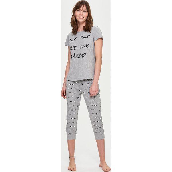 94ee222f1a07a1 Dwuczęściowa piżama - Jasny szar - Piżamy damskie marki Sinsay. Za ...