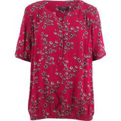 Tunika, krótki rękaw bonprix czerwień granatu w kwiaty. Czerwone tuniki damskie bonprix, w kwiaty, z krótkim rękawem. Za 59.99 zł.