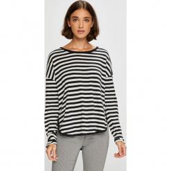 Roxy - Bluzka. Szare bluzki damskie Roxy, z bawełny, z okrągłym kołnierzem. W wyprzedaży za 119.90 zł.