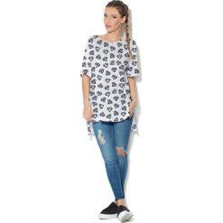 Colour Pleasure Koszulka CP-033  174 biało-czarna r. uniwersalny. T-shirty damskie Colour Pleasure. Za 76.57 zł.