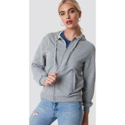 NA-KD Basic Bluza basic z kapturem - Grey. Szare bluzy damskie NA-KD Basic, z bawełny. Za 100.95 zł.