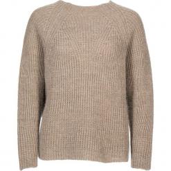 Sweter w kolorze beżowym. Brązowe swetry damskie Gottardi, prążkowane, z okrągłym kołnierzem. W wyprzedaży za 173.95 zł.