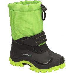 """Kozaki zimowe """"Sunny"""" w kolorze zielonym. Buty zimowe chłopięce marki Geox. W wyprzedaży za 72.95 zł."""