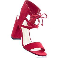 Sandały bonprix czerwony. Sandały damskie marki bonprix. Za 59.99 zł.