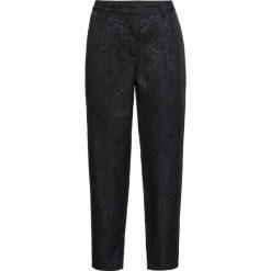 Spodnie brokatowe bonprix czarny. Czarne spodnie materiałowe damskie bonprix, w paski. Za 149.99 zł.