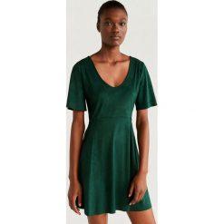 Wyprzedaż zielona odzież damska Mango, bez kołnierzyka