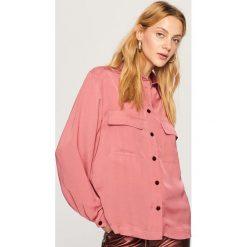 Gładka koszula - Różowy. Czerwone koszule damskie Reserved. Za 99.99 zł.