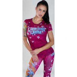 """Ground Game Sportswear Koszulka damska """"Koi"""" krótki rękaw  Różowa r. M. T-shirty damskie Ground Game Sportswear. Za 139.00 zł."""