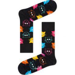 Happy Socks - Skarpety Cat. Czarne skarpety męskie Happy Socks, z bawełny. W wyprzedaży za 29.90 zł.