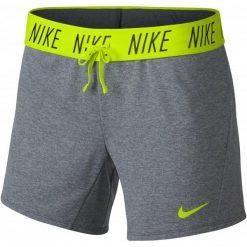 Nike Spodenki Damskie W Nk Dry Short Attk tr5 Cool Grey Htr Volt S. Szare szorty sportowe damskie Nike, ze skóry. Za 105.00 zł.
