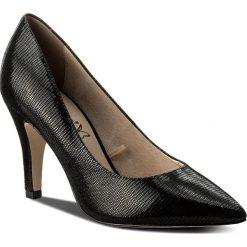 Półbuty CAPRICE - 9-22416-20 Black Reptile 010. Czarne półbuty damskie Caprice, ze skóry, eleganckie. W wyprzedaży za 169.00 zł.
