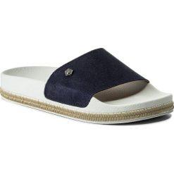 Klapki TAMARIS - 1-27112-20 Navy 805. Niebieskie klapki damskie Tamaris, ze skóry. W wyprzedaży za 129.00 zł.