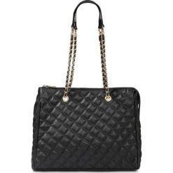Torebka shopper pikowana bonprix czarny - złoty kolor. Czarne torebki shopper damskie bonprix. Za 124.99 zł.