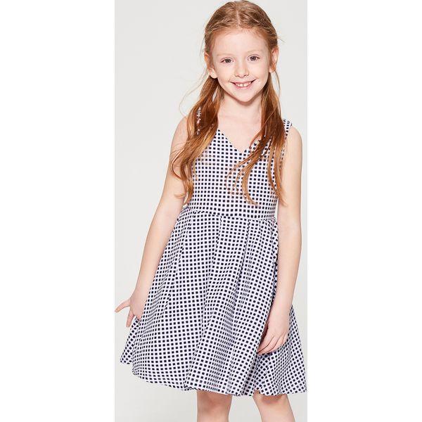 b22844daf6 Sukienka w kratę gingham dla dziewczynki little princess - Biały ...
