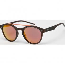 Polaroid - Okulary PLD6030. Brązowe okulary przeciwsłoneczne męskie Polaroid, z materiału. Za 279.90 zł.