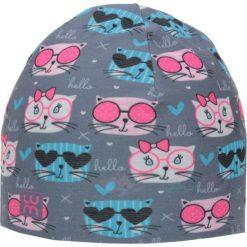 Dwuwarstwowa czapka Micro Double kid kitty. Szare czapki dla dzieci LUM. Za 52.44 zł.