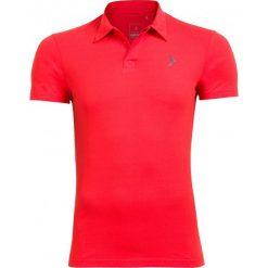 Koszulka polo męska TSM610A - czerwony - Outhorn. Czerwone koszulki polo męskie Outhorn, na lato, z bawełny. W wyprzedaży za 39.99 zł.