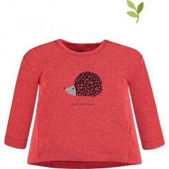 Koszulka w kolorze czerwonym. Czerwone bluzki dla dziewczynek bellybutton, z nadrukiem, z bawełny, z okrągłym kołnierzem, z długim rękawem. W wyprzedaży za 37.95 zł.