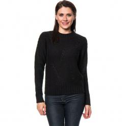 Sweter w kolorze czarnym. Czarne swetry damskie Assuili, z kaszmiru, z okrągłym kołnierzem. W wyprzedaży za 136.95 zł.