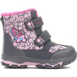 Szare Śniegowce Moonlight Shadow. Szare buty zimowe dziewczęce Born2be, z materiału. Za 79.99 zł.