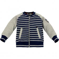 Kurtka w kolorze szaro-niebieskim. Niebieskie kurtki i płaszcze dla chłopców Bondi, w paski. W wyprzedaży za 49.95 zł.