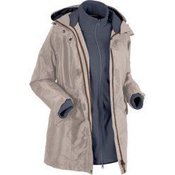 Płaszcz outdoorowy funkcyjny 3 w 1 bonprix brunatno-szary. Płaszcze damskie marki FOUGANZA. Za 249.99 zł.
