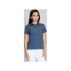 Bluzka M548 Granat. Niebieskie bluzki damskie Figl. Za 119.00 zł.