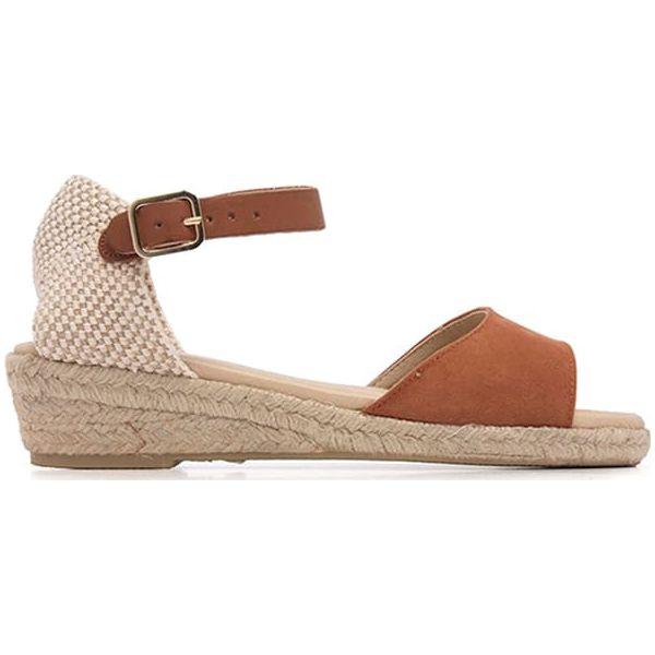 8ab1e10565e93 Sandały w kolorze jasnobrązowo-beżowym - Sandały damskie marki Eva ...