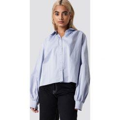 NA-KD Trend Koszula Volume Sleeve - Blue. Niebieskie koszule damskie NA-KD Trend, z krótkim rękawem. Za 121.95 zł.