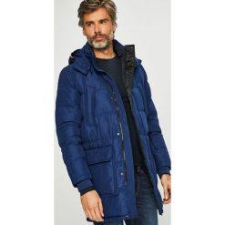 Tommy Hilfiger - Kurtka puchowa. Niebieskie kurtki męskie Tommy Hilfiger, z materiału. Za 1,599.00 zł.