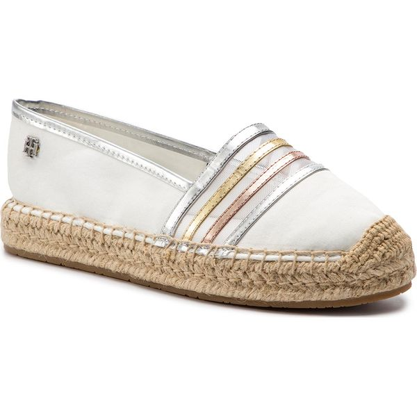 b57385dd7d6b4 Espadryle TOMMY HILFIGER - See-Through Detail Espadrille FW0FW03845 ...