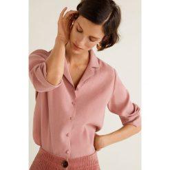 Mango - Koszula Toscana. Różowe koszule damskie Mango, z poliesteru, z długim rękawem. Za 199.90 zł.