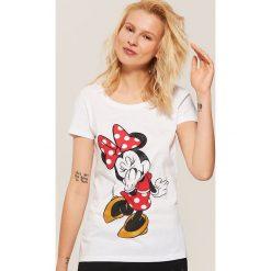 Koszulka piżamowa Minnie Mouse - Biały. Białe koszule nocne damskie House, z motywem z bajki. Za 35.99 zł.