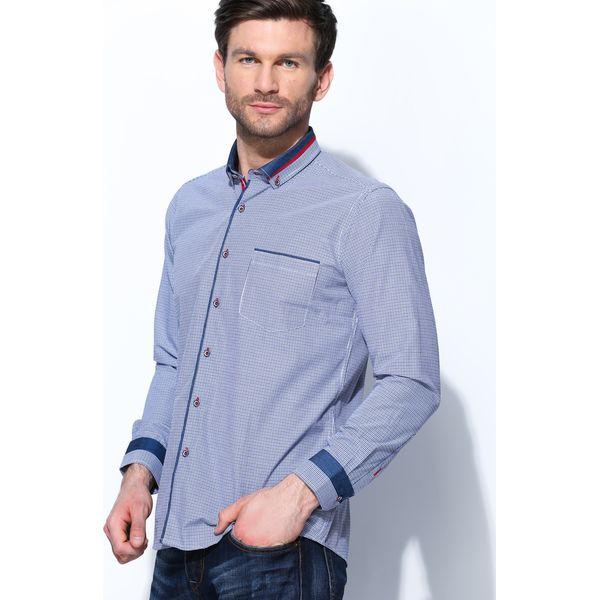 dfa8fe0f8b3a62 Granatowa Koszula Pinprick - Koszule męskie marki Born2be. Za 39.99 ...