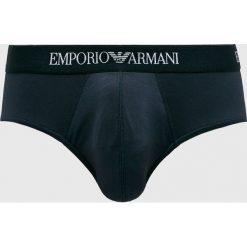 Emporio Armani - Slipy. Czarne slipki męskie Emporio Armani, z dzianiny. W wyprzedaży za 99.90 zł.