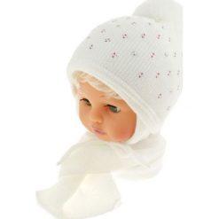 Czapka dziecięca z szalikiem CZ+S 129A biała. Czapki dla dzieci marki Reserved. Za 50.15 zł.