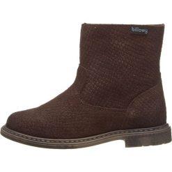 Skórzane botki w kolorze ciemnobrązowym. Botki dziewczęce Zimowe obuwie dla dzieci. W wyprzedaży za 125.95 zł.