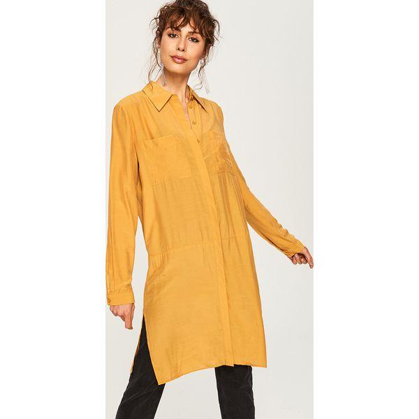 daca85270e764d Długa koszula - Żółty - Koszule damskie Reserved. W wyprzedaży za ...
